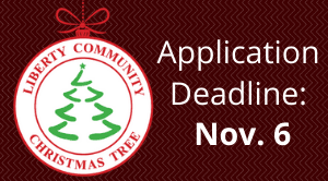 Liberty Community Christmas Tree applications