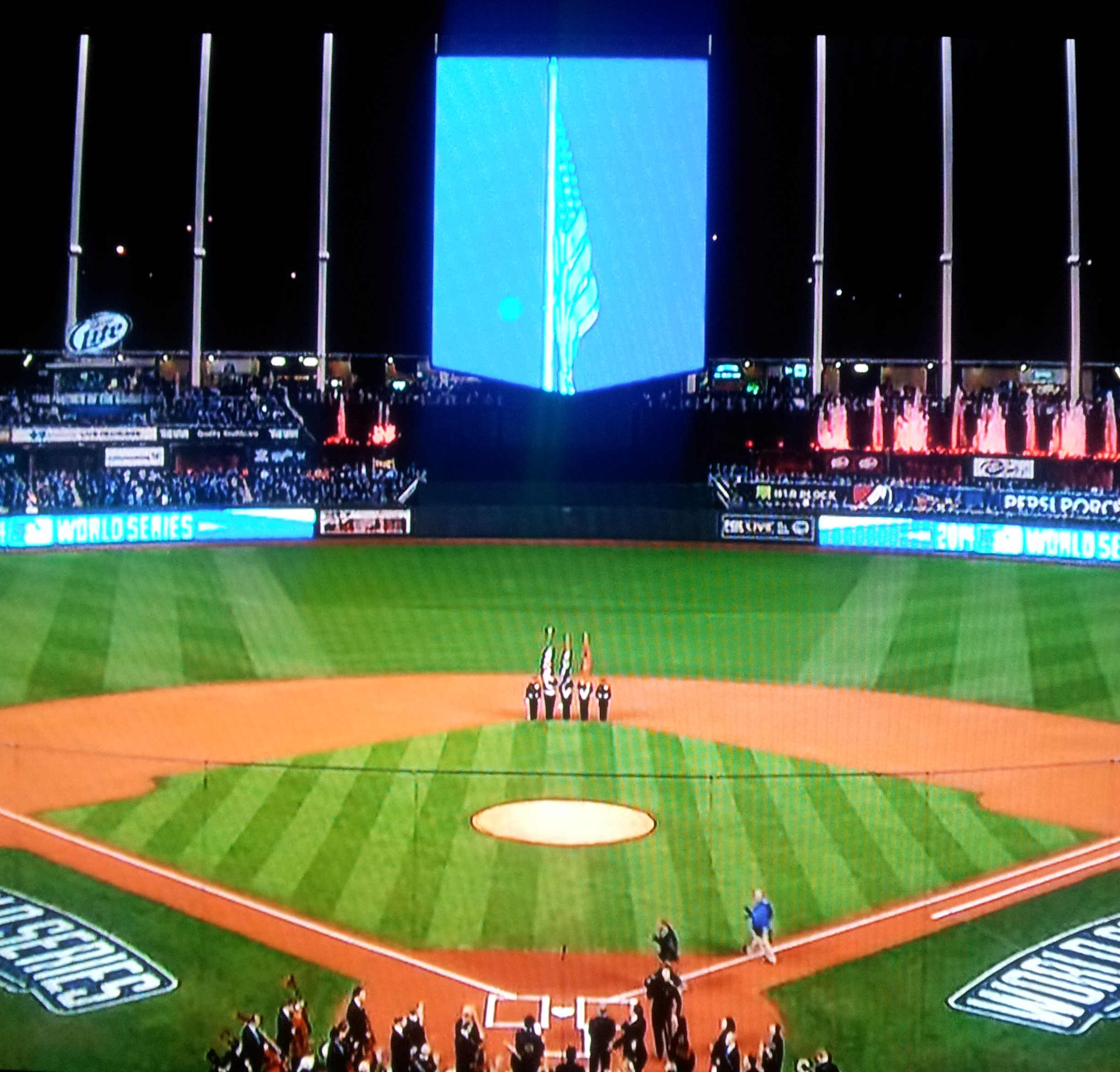 LFD Honor Guard at Game 6 of 2014 World Series 02