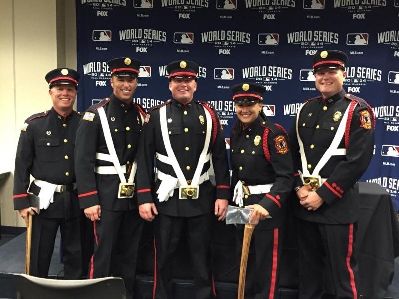 LFD Honor Guard at Game 6 of 2014 World Series