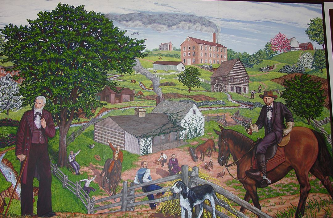 Clay County Administration Building Murals 3